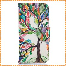 For iphone 6 Beautiful tree wallet leather case, book design case for iphone 6