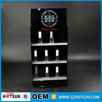LED lighted countertop 3 tiers acrylic perfume display stands for perfume oil