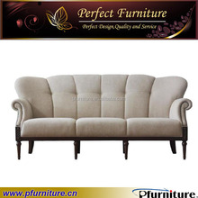 Franch style hotel sleeper wooden carved sofa PFS5952