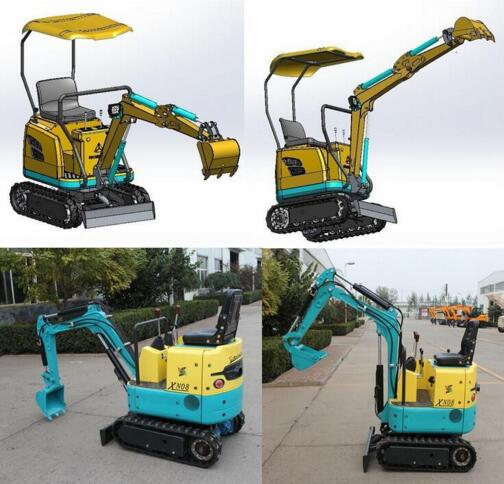 0.8 ton-6 ton Mini Excavator Small Digging Machine with Price