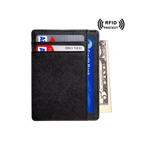 Men RFID Wallet Card Holder PU Purse Wallet