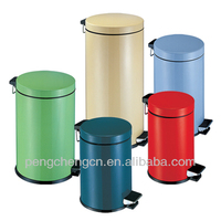 foot pedal mobile stainless steel garbage bin