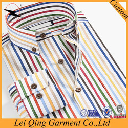 2016 fashion high quality red stripedesign casual shirt in mumbai
