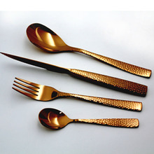 Rose Gold PVD plated flatware stainless steel wedding cutlery set