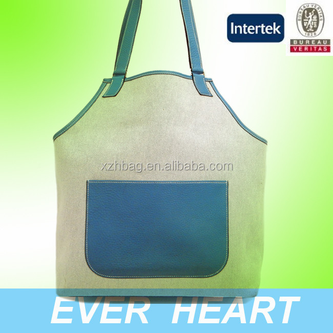 Canvas Light Blue Shoulder Tote bag
