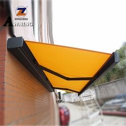 Venda quente janela toldo retrátil pátio/capa de chuva/canopis para sol sombreamento toldos de alumínio com melhor preço