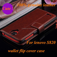 new style flip leather stand wallet creadit card slot cellphone back cover case for lenovo s820
