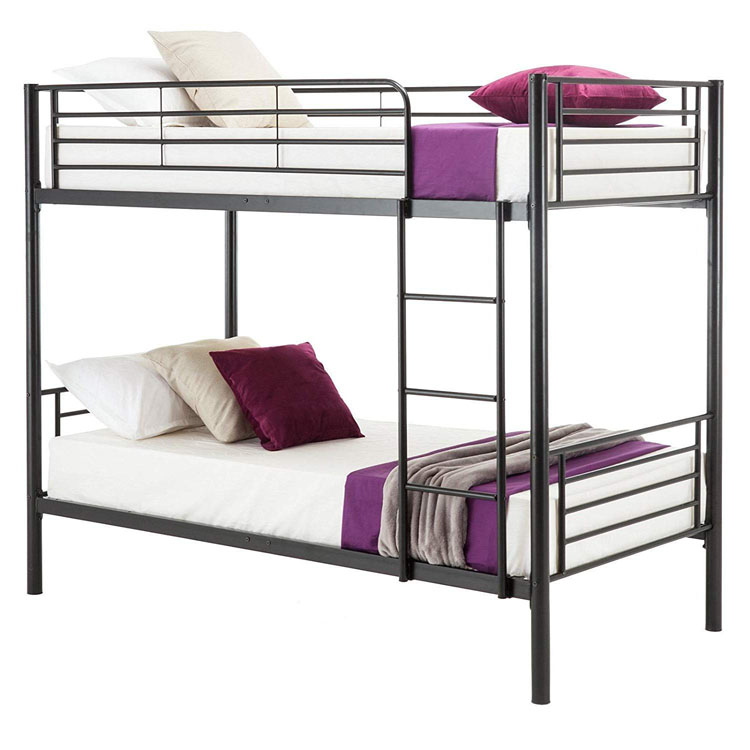 Double Decker Design Metal Frame Bunk Home <strong>Bed</strong> with Mattress
