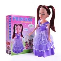 Princess doll kids craft doll toys colorful clay making kits