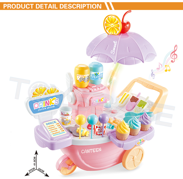 Emulational Pretend Play Colorful Juice Trolley Set Toy