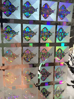 Bottom price hot-sale silver square hologram sticker