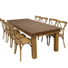 Solid wood vintage table for dining