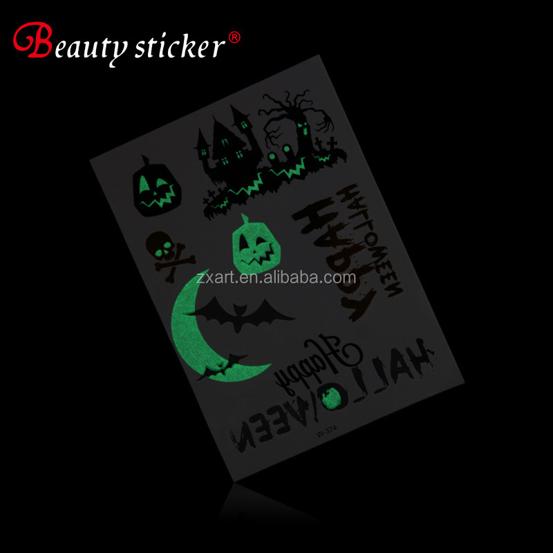 Custom temporary glow in the dark fluorescent/luminous tattoo