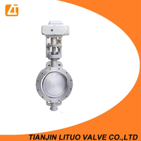 Motor operated a216 wcb wafer type rubber seal butterfly valve
