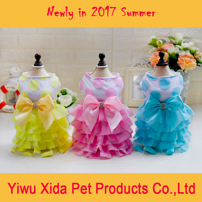 Newly in 2017 Dog Dress Clothes Cat Dress Pet Products