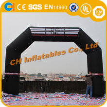 Black advertising event inflatable arch , portable inflatable archway, custom arch door