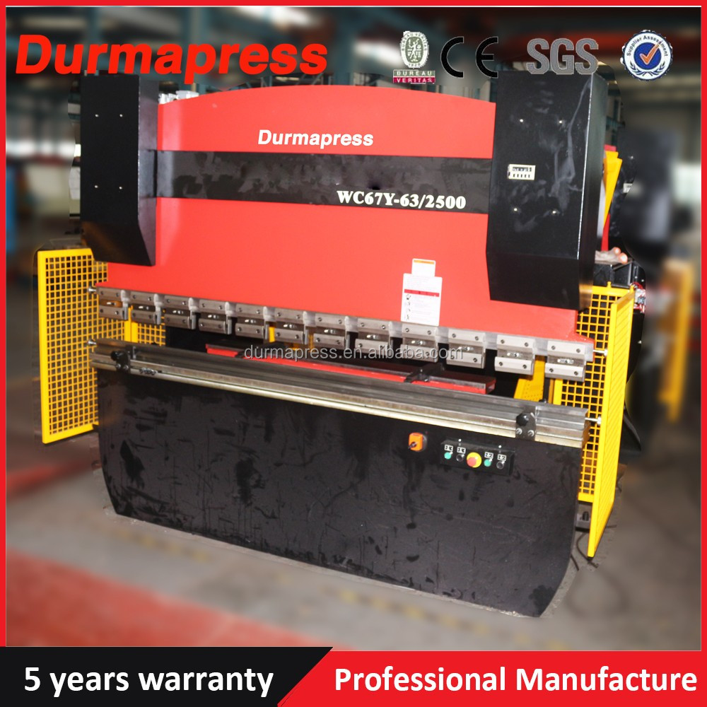 CNC Hydraulic press brake machine/WC67Y-80T2500 used steel bending machine for sale