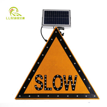 Led solar construction signs/flashing led stop sign/slow down sign