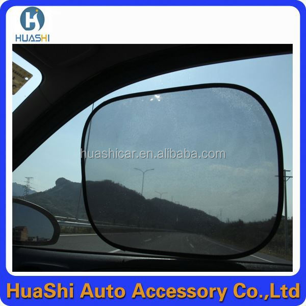 folde screen printing designer auto side window sunshade custom printed sublimation car sunshade
