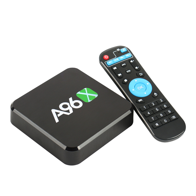 Super hot Android 6.0 WIFI internet A96X smart tv box in America market