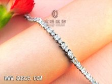 fashion design of 925 sterling silver bracelet inlay with CZ