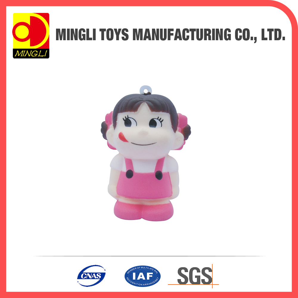Factory custom Mini keychain girl Cartoon action figures for baby toy