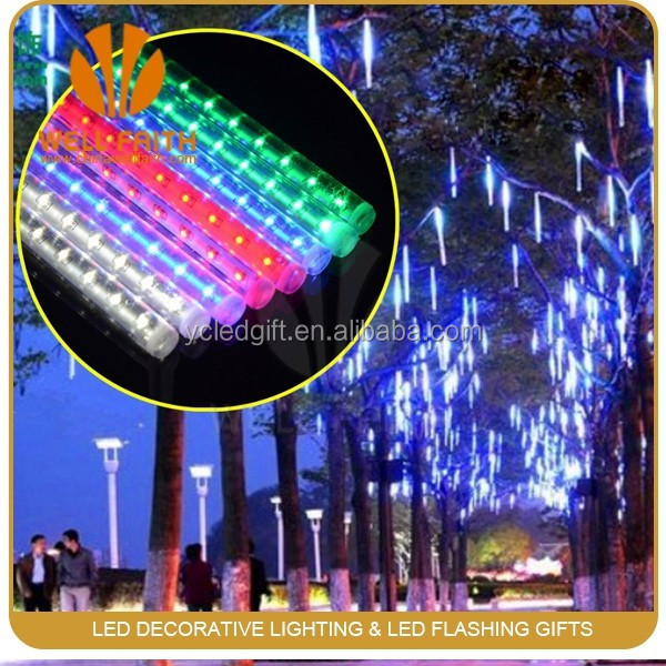 2W Snowfall Rain Tree Garden Festival Decorate Light Mini LED Strip, Meteor Shower led tube Light
