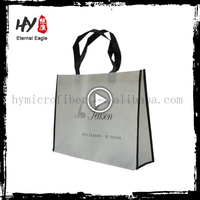 Good quality nice logo printed non woven tote bags