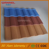 Building wood house roof shingle 50 warranty years metal steel villa roof tile