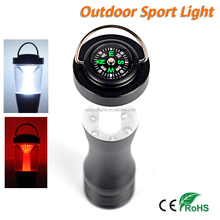 Compass Hand Torch Light New Bright LED Camping Lantern