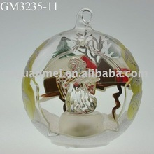 Christmas angel figurine hanging ball decoration with LED light