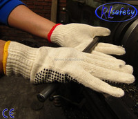 RL SAFETY Miner dyed yarn protective gloves for cheap price