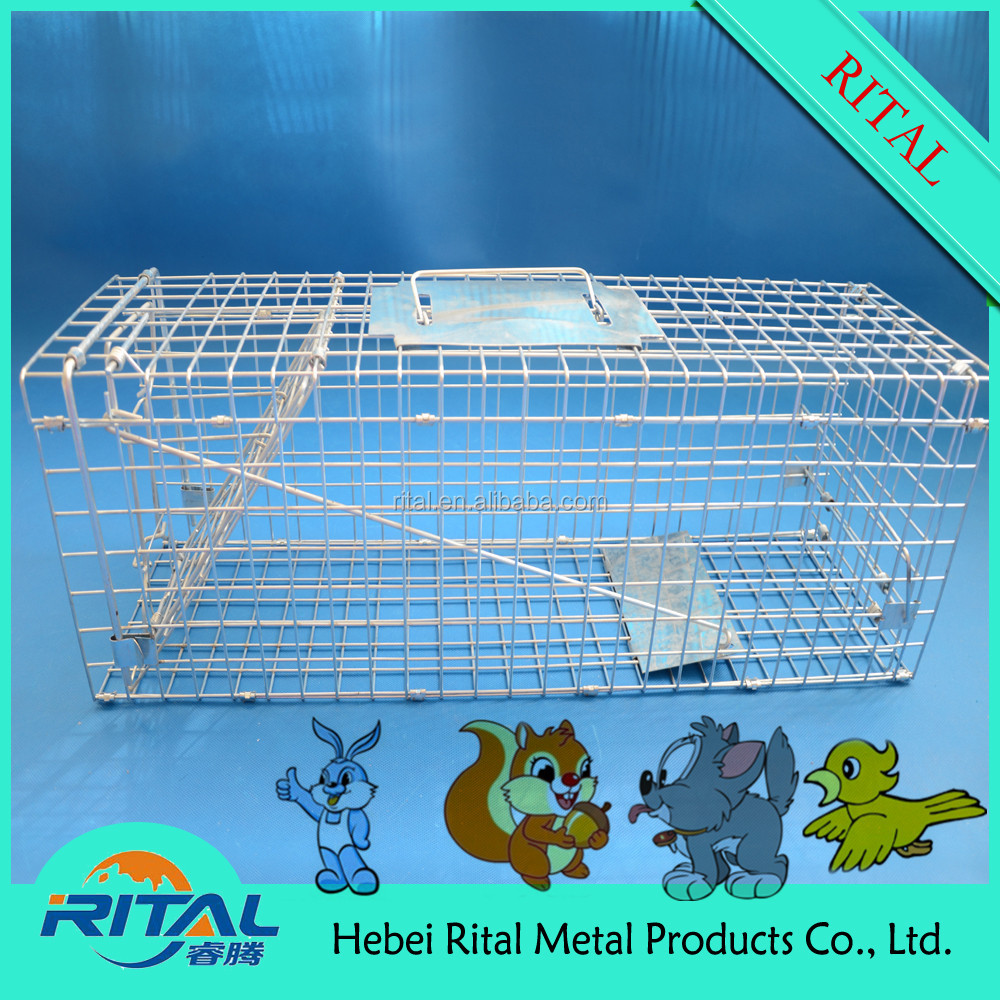 Foldable Wire Mesh Animal Trap Cage for Mouse Rat Hamster Rabbit Cat