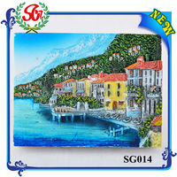 SG014 Beautiful Village Magnetic Pocket For Fridge