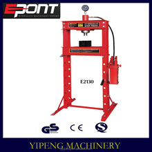 hot sale CE approved hydraulic shop press 30t with pressure gauge