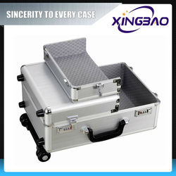 aluminum luggage trolley price,stainless trolley luggage,professional airport trolley case
