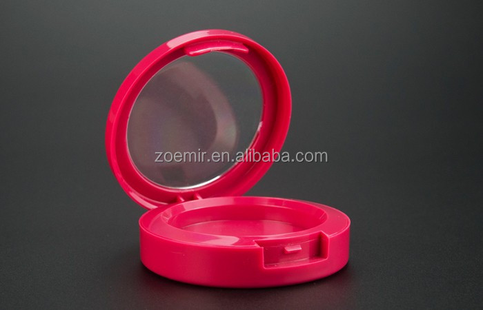 New mold luxury empty round compact powder case /cosmetic case /red powder case with private logo