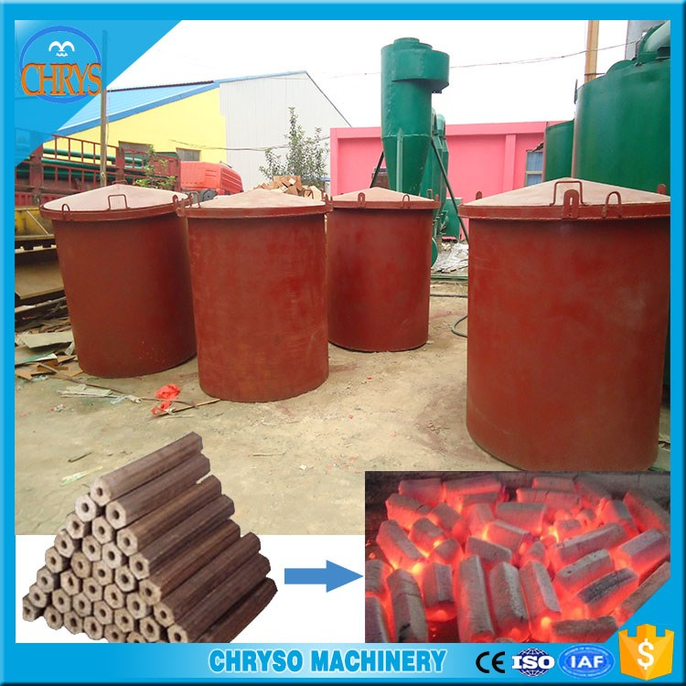 Continous horizontal coconut carbonizing furnace stove