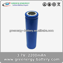li ion rechargeable battery 3.7v with pins ICR18650H li ion battery pack 2200mAh li-ion cylindrical battery