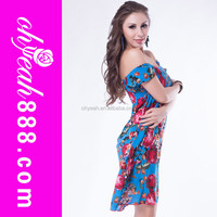 Mulitcolor wholesale sexy summer flower dress sexy korea summer fashion dress 2016