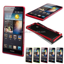 New Slim Thin Aluminium Metal Frame Bumper Case Cover + Free Screen Protector For Huawei Ascend P6