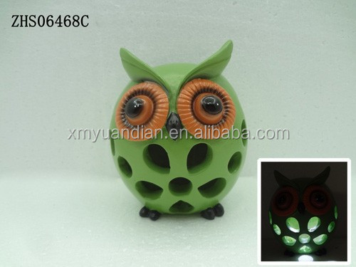 outdoor garden owl solar light