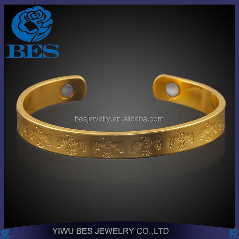 Magnetic Therapy Copper Jewelry Expandable Cuff Health Bangle for Unisex