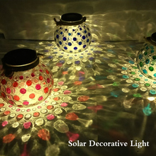 Taobao New Product Color Changing Crackle Glass Ball led Christmas Decorative Light Solar Home Crystal Party Jar Light