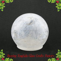 Christmas Glass Ball Painted Moon With