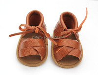 Summer kids shoes cheap genuine leather soft soled lovely baby's sandal