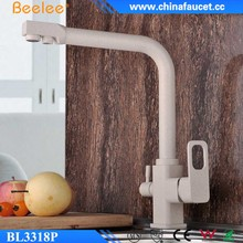 Beelee BL3318P Painting Color Drinking Water 3 Way Kitchen Purifier Faucet with Pure Water Flow Filter Tap
