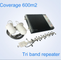 GSM Cell Amplifier, Cellular Booster Tri band 900 1800 3G 2G 3G 4G Signal Booster GSM DCS WCDMA Tri-band Gsm Repeater