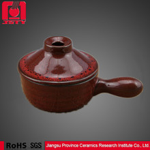 russetish ceramic mini cookware for microwave oven antique cute clay pot