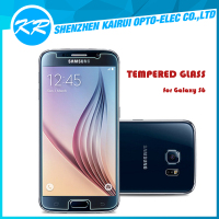 2015 New arrival! scratch resistant anti-shock high clear tempered glass screen protector for Samsung S6,Front and back